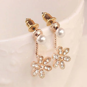 1Pair Women's Five flower Of Design Of Stud Earrings