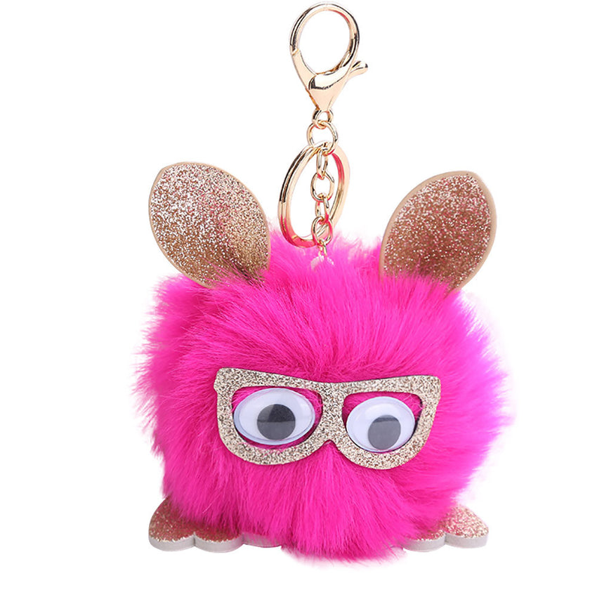 Owl Pompom Key Chains