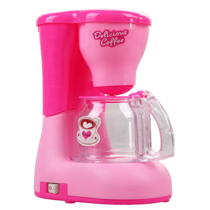 Pink Girls Kitchen Toys Coffee Machine Children Kid's Kitchen Toys Educational Emulational Pretend Play Toys for Girls
