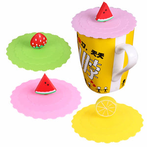 1PC Dustproof Silicone Cup Lid Thermal Insulation Cup Cover Coffe Tea Cup Cover Kitchen Drinking Accessories