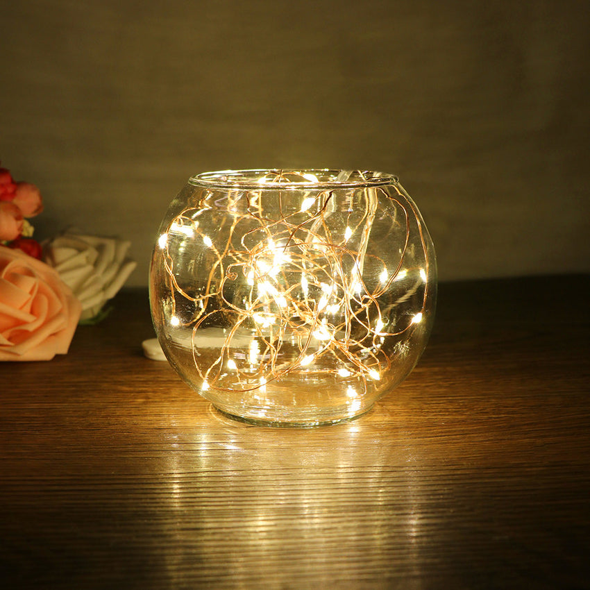 2m/6.5ft 20-LED Copper Wire String Light for Glass Craft Bottle Fairy Valentines Wedding Lamp Party Xmas Battery Included