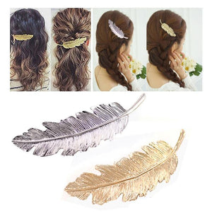 2 PCS Women Girls Leaf Hair Pins  Clip  Hair Claw Barrettes Accessories