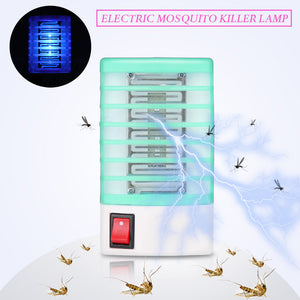 110-220V EU Plug Electric Mosquito Killer Lamp Insect Pest Bug Zapper Repeller Mini Blue Night Light