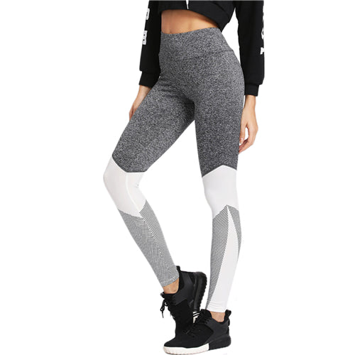 SHEIN Fitness Leggings Women Workout Clothes for Women Activewear Color Block Wide Waistband Cut and Sew Leggings