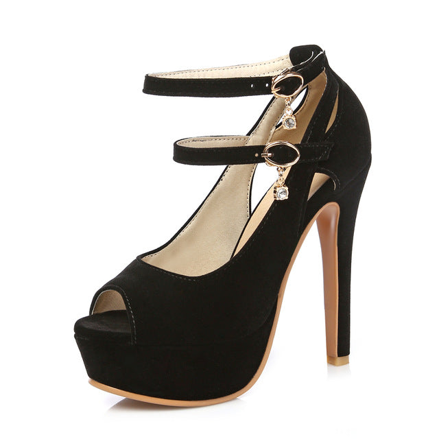 BONJOMARSIA hot sale plus size 30-48 customized platform party bride shoes women sandal peep toe thin high-heeled shoes woman