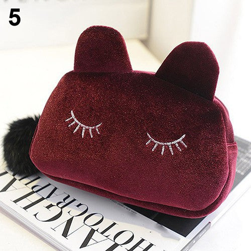 New fashion cute fluffy purse makeup hand bag small change mini handbag