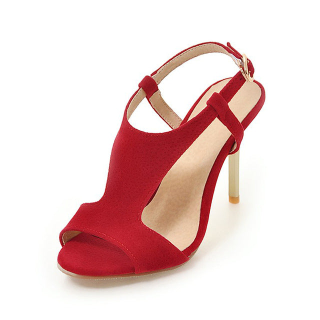 BONJOMARISA Big Size 30-48 Wholesale Top Quality Thin High Heels Summer Shoes Woman Sexy Party Sandals Shoes Women