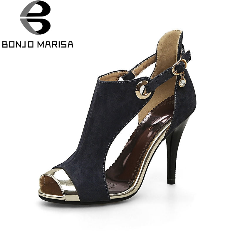 BONJOMARISA 2018 Summer Hot Sale Plus Size 32-44 Decorating Sandals Women Super High Heels Shoes Woman Party Women Shoes