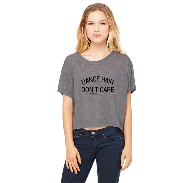 Don't Care Cropped Boxy Tee