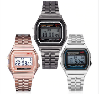 Gama Watches™ Paquete de 10 relojes vintage retro digitales