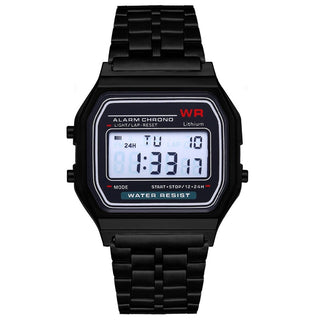 Gama Watches™ Reloj Vintage Retro Digital. Negro.