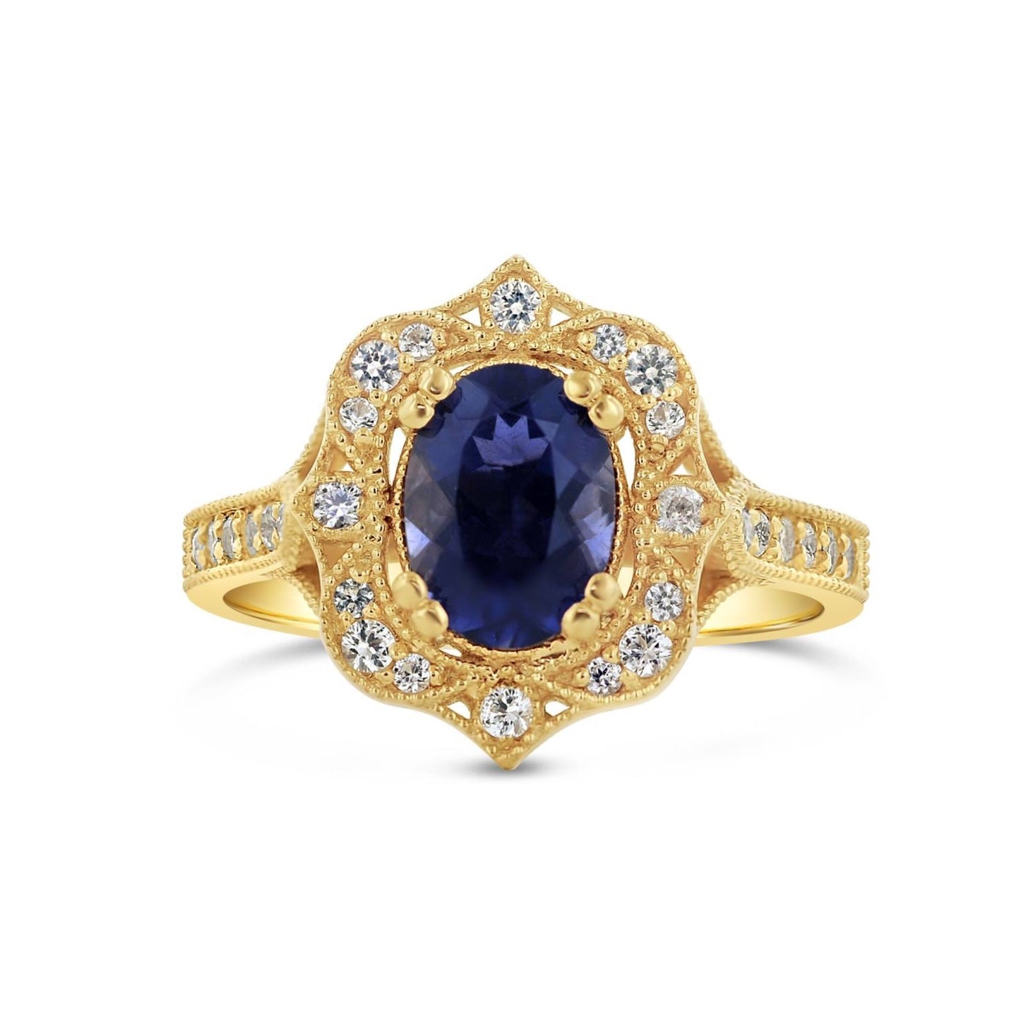 Iolite Art Deco Ring