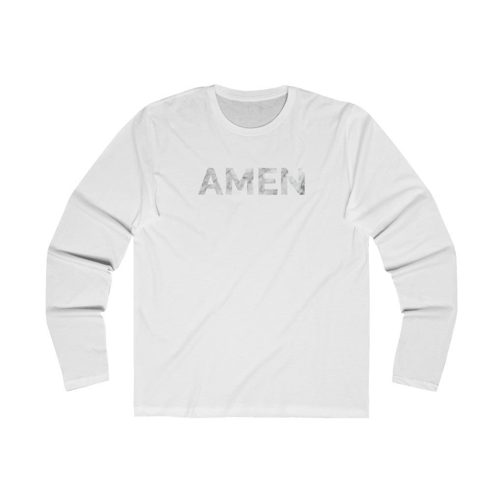 Amen Long Sleeve Tee - Solid White / L - Long-sleeve