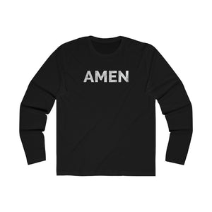 Amen Long Sleeve Tee - Solid Black / S - Long-sleeve