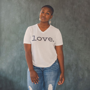 Love. V-Neck Tee - T-shirts