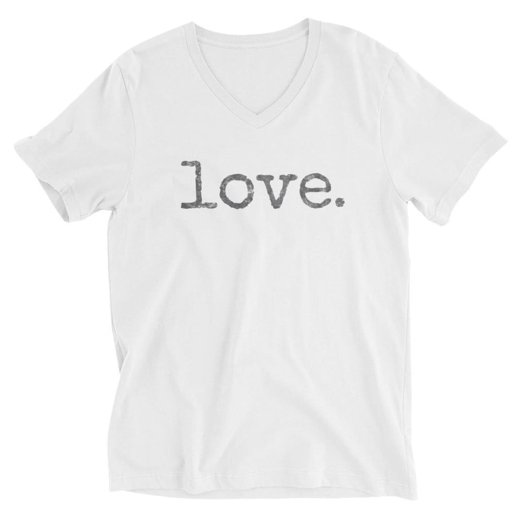 Love. V-Neck Tee - White / XS - T-shirts