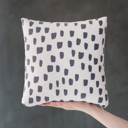 Spotty Dot - Faux Suede Square Pillow - Home Decor
