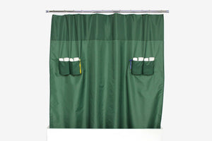 utility shower curtain storage loops nylon green