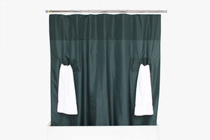 utility shower curtain storage loops nylon navy