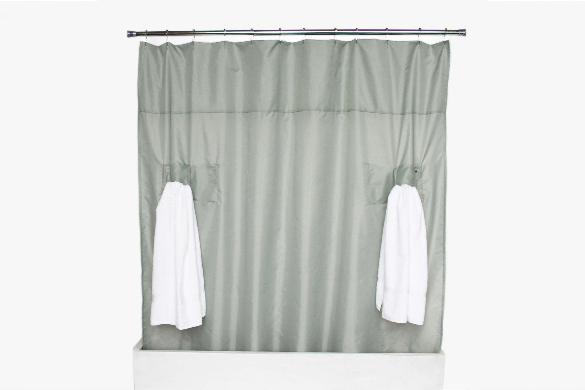Utility Shower Curtain Storage Loops Nylon Silver