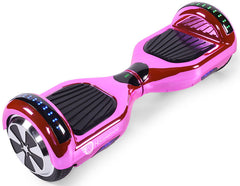 "Pink Chrome 6.5"" Disco LED Official Hoverboard"