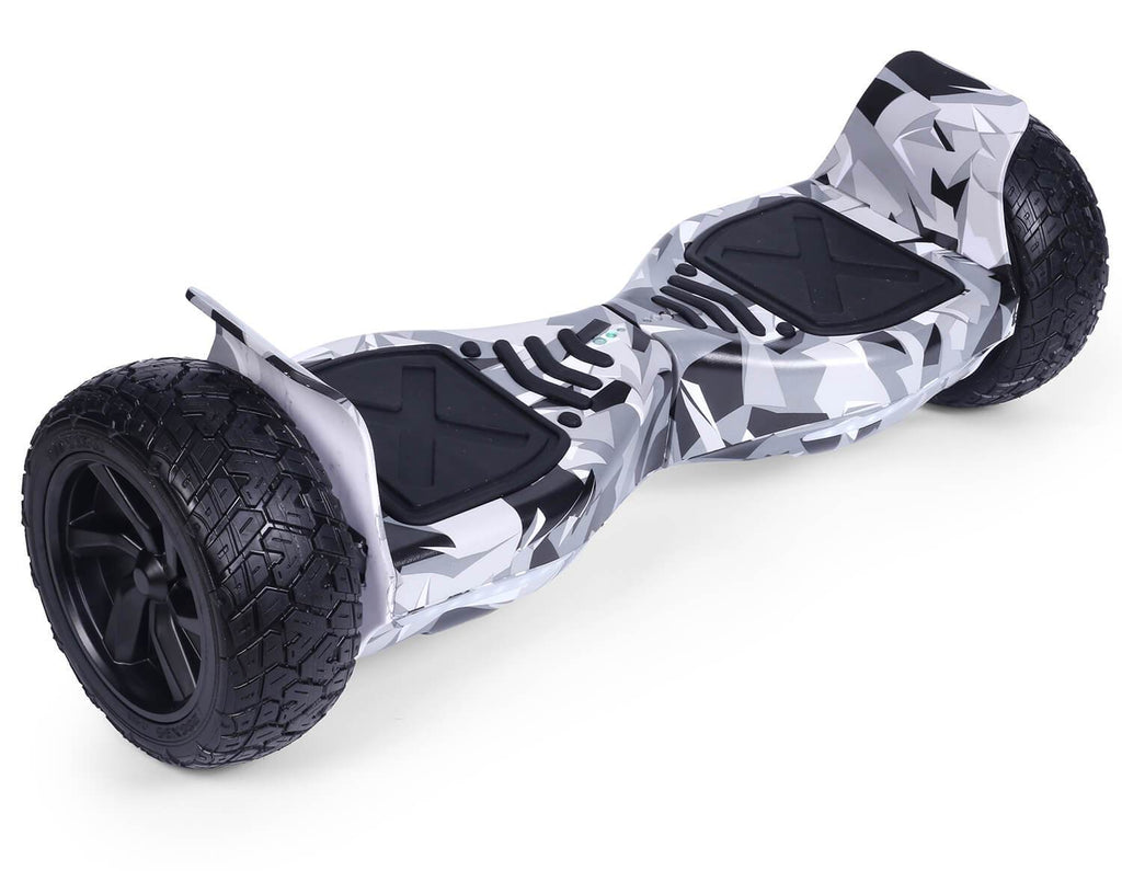 "White Vortex Camo Hoverkart Bundle 8.5"" Off Road Hummer Official Hoverboard - Official Hoverboard"
