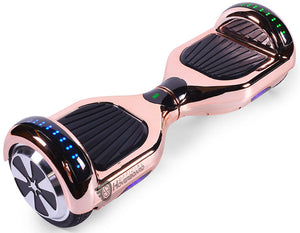 "Rose Gold Chrome 6.5"" Disco LED Official Hoverboard - Official Hoverboard"