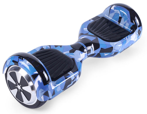"Blue Vortex Camo 6.5"" Disco LED Official Hoverboard - Official Hoverboard"