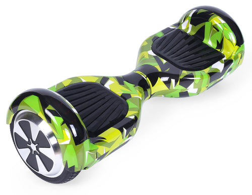 "Green Vortex Camo 6.5"" Disco LED Official Hoverboard"