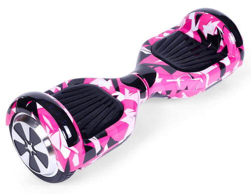 "Pink Vortex Camo 6.5"" Disco LED Official Hoverboard"