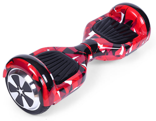 "Red Vortex Camo 6.5"" Disco LED Official Hoverboard"