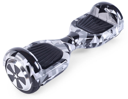 "White Vortex Camo 6.5"" Disco LED Official Hoverboard"