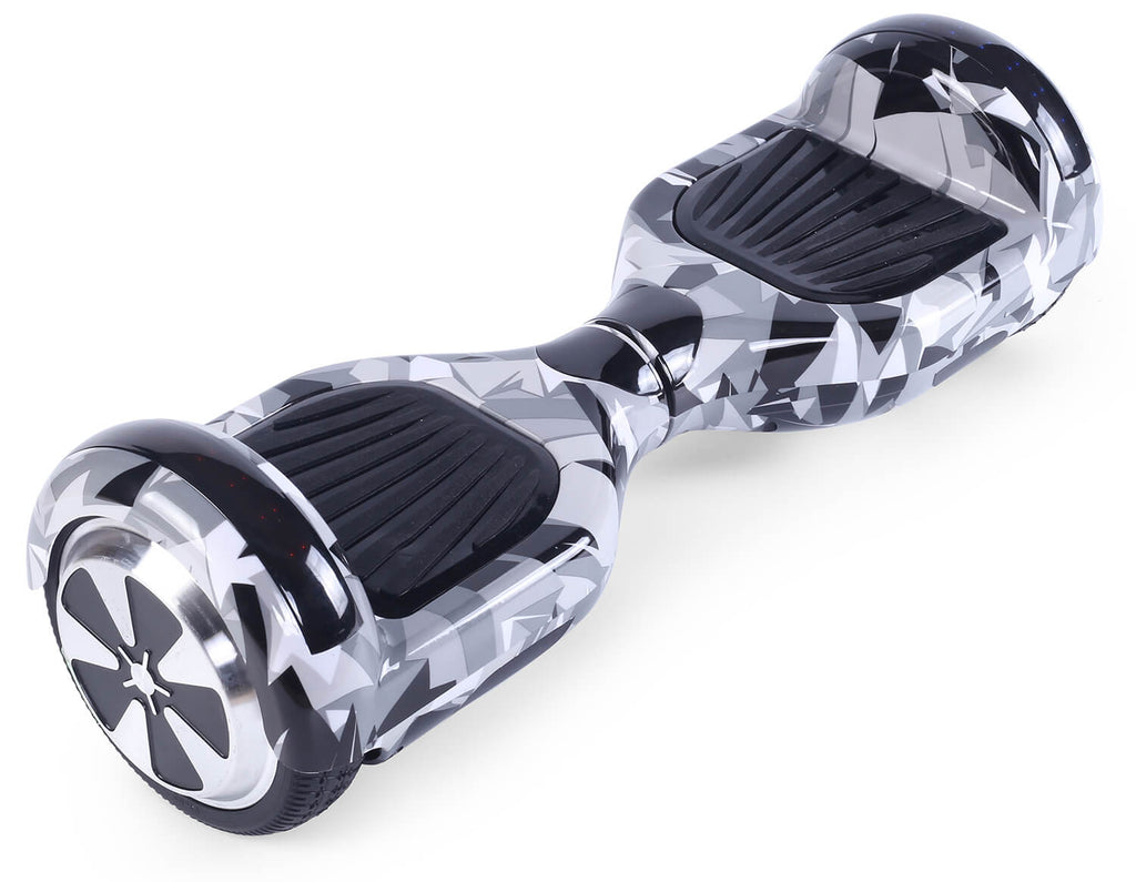 "White Vortex Camo Bundle 6.5"" Disco LED Official Hoverboard - Official Hoverboard"