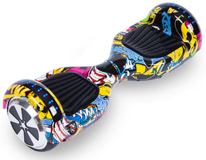 "Hip Hop Graffiti Special 6.5"" Disco LED Official Hoverboard - Official Hoverboard"