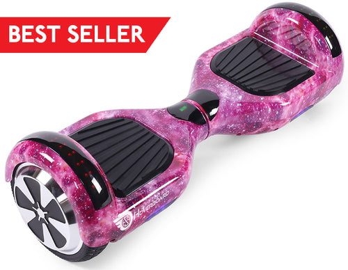 "Pink Galaxy Special 6.5"" Disco LED Official Hoverboard - Official Hoverboard"