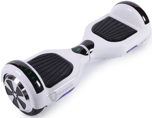 "White 6.5"" Classic Disco LED Official Hoverboard - Official Hoverboard"