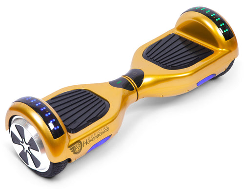 "Gold 6.5"" Classic Disco LED Official Hoverboard - Official Hoverboard"