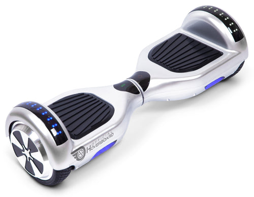 "Silver 6.5"" Classic Disco LED Official Hoverboard - Official Hoverboard"