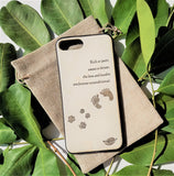 iPhone Ultra Thin Wood Phone Cases - Maple Wood - Dog Edition