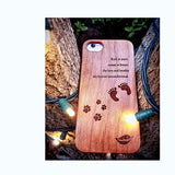 iPhone Premium Wood Phone Cases - Cherry Wood - Dog Edition