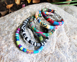 Boho Recycled Polyester Woven Fabric Bracelet