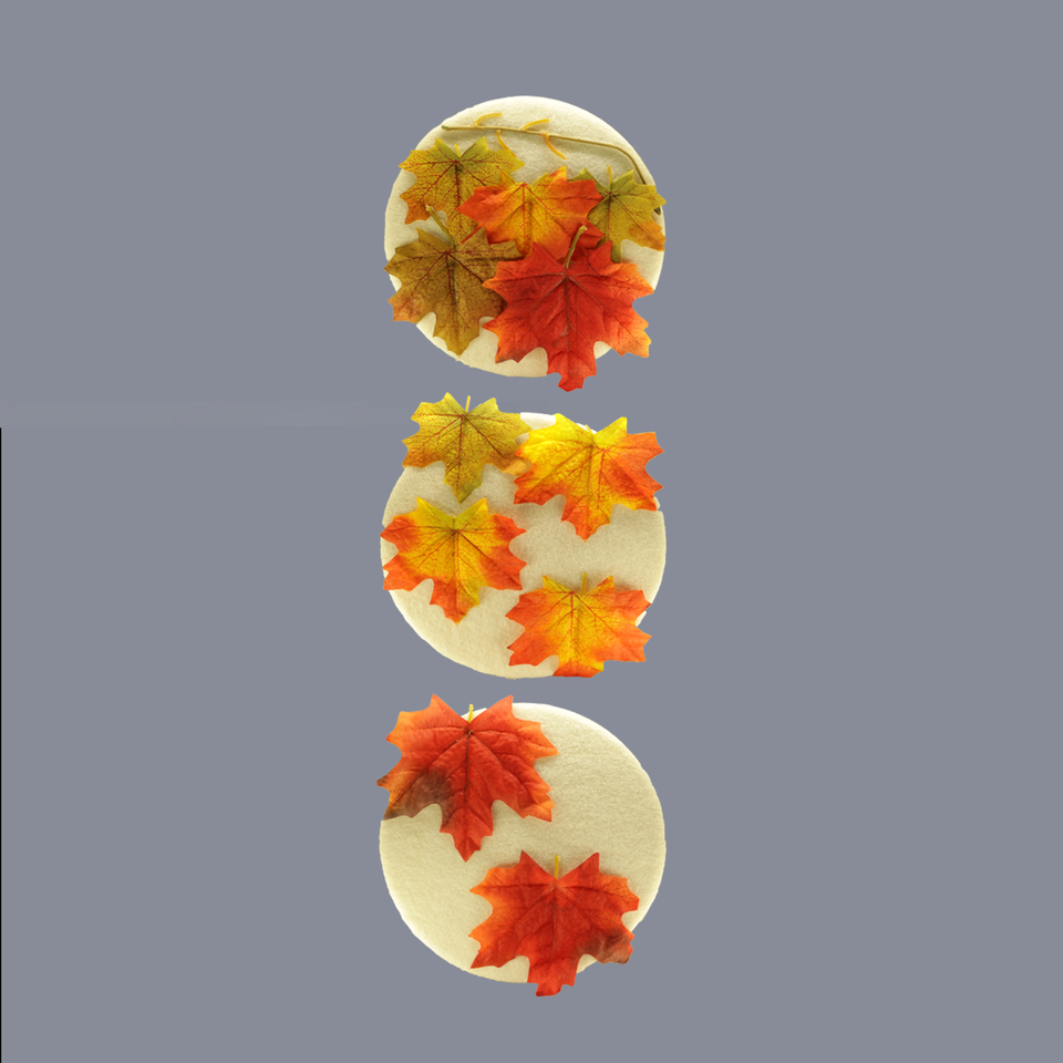 HANDMADE FALLING LEAVES THEME WALL DECOR (Set of 3) - BABBALBUY