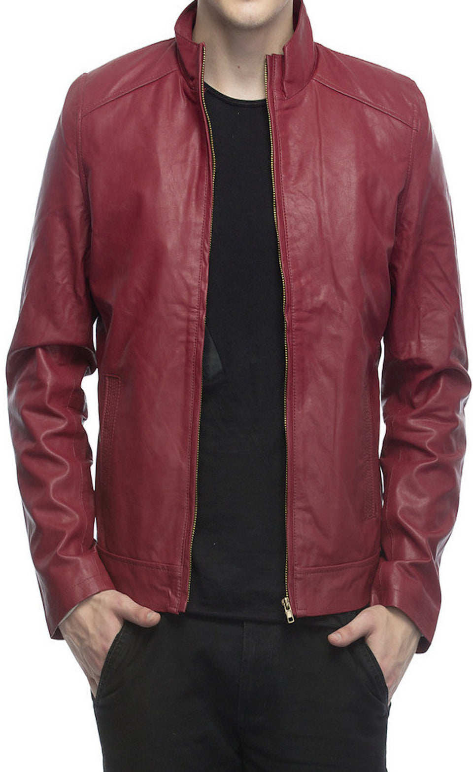 SOLID MEN'S JACKET - BABBALBUY