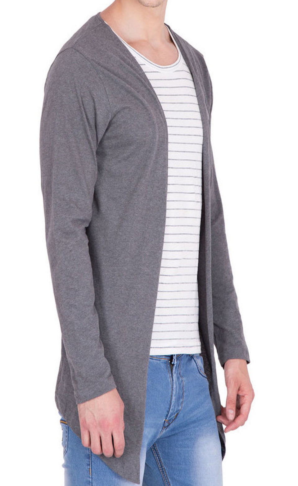 PAUSE INTERNATIONAL BRAND COTTON MEN'S SHRUG/CARDIGAN - BABBALBUY