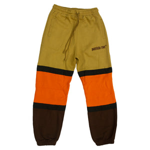 """Brown"" Tri-Color Strapped Sweatpants"