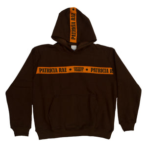 """Brown"" Woven Strapped Hoodie"