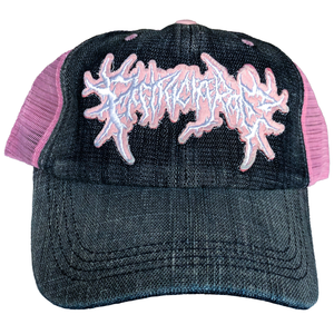 Pink Washed Denim Trucker Hat