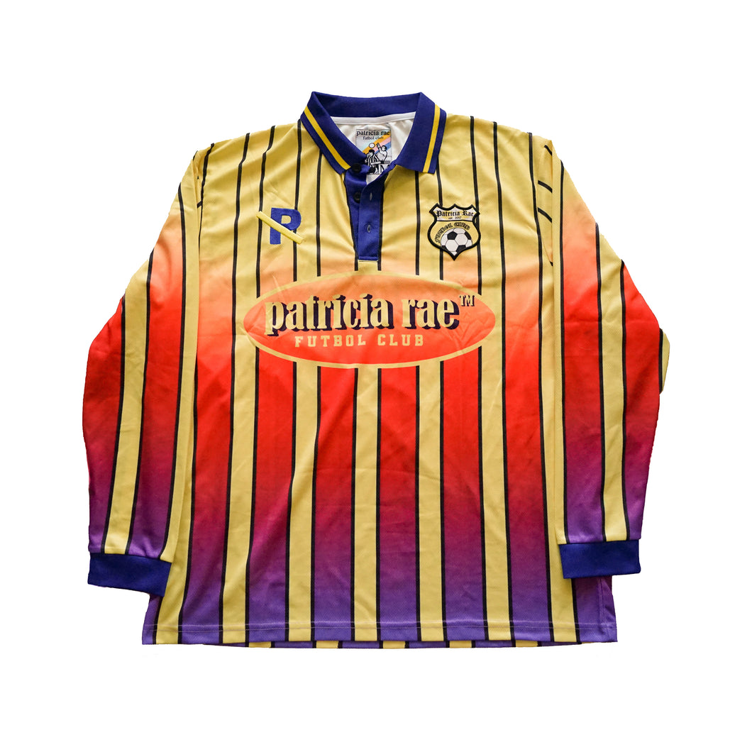 Yellow Striped Futbol Club Jersey