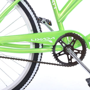 "Lixada 26"" Green Carbon Beach Cruiser"