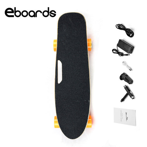 Eboards Fish Plate Electric Skateboard with Handle and Remote Control